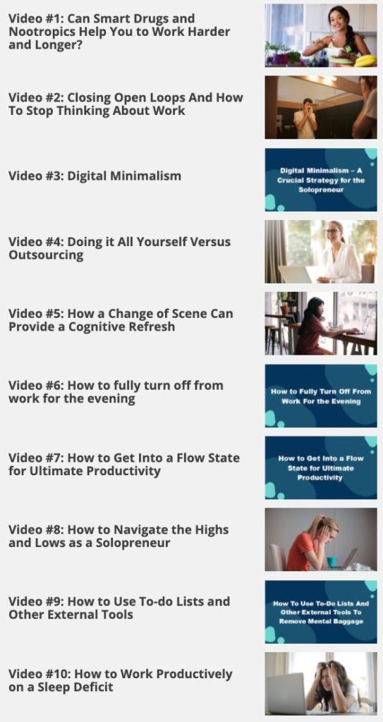 The Productive Solopreneur - 10 Videos