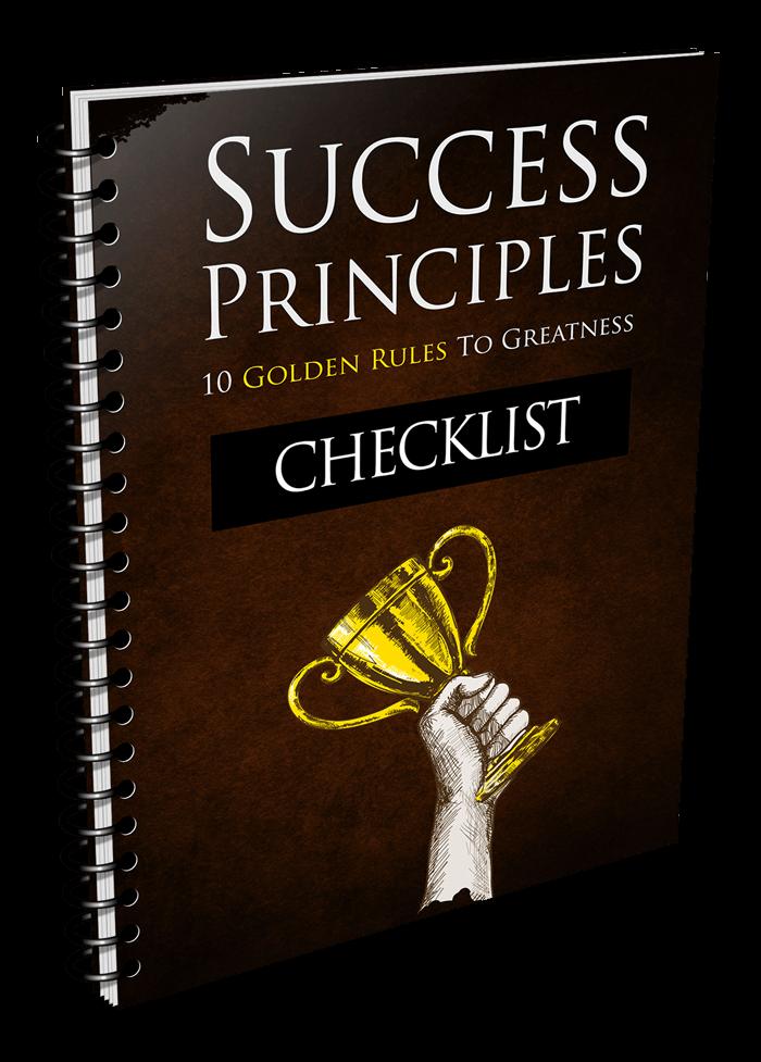 Success Principles Checklist