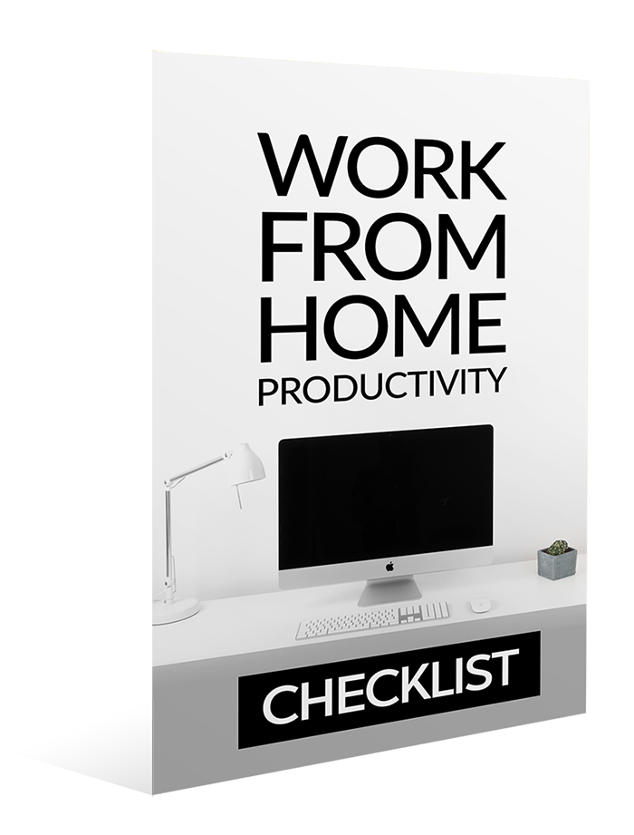 Work From Home Productivity Checklist Image