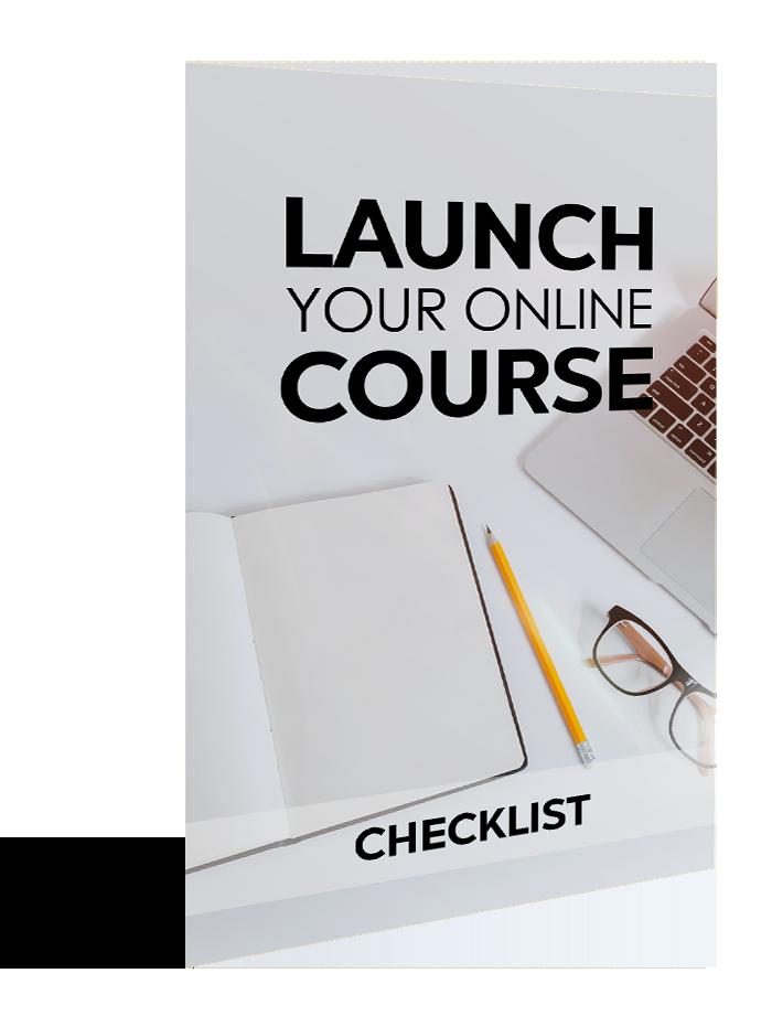 Launch your online course - checklist image