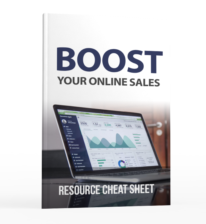 Boost Your Online Sales - Resource Cheat Sheet Image