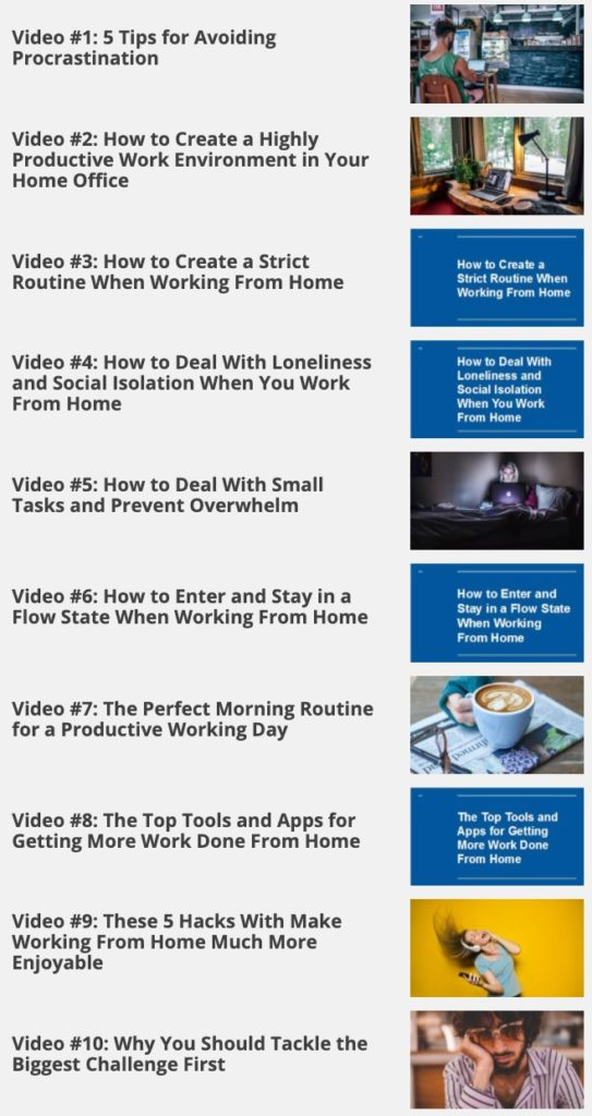 Work From Home Productivity video chapter Image