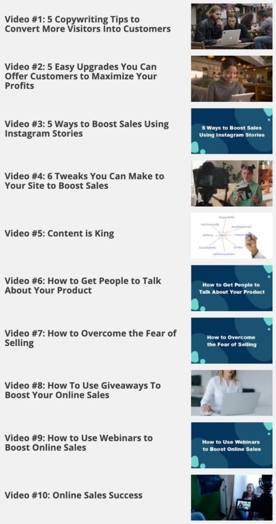 Boost Your Online Sales - videos Image